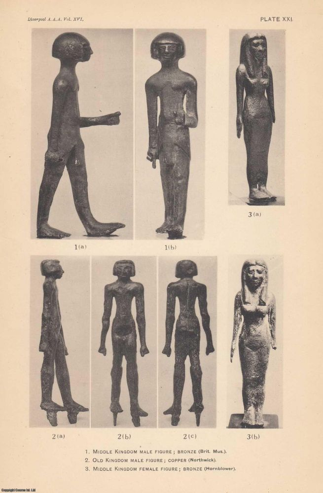Some Early Copper and Bronze Egyptian Figurines. A rare article from the Annals of Archaeology and Anthropology. H R. Hall.