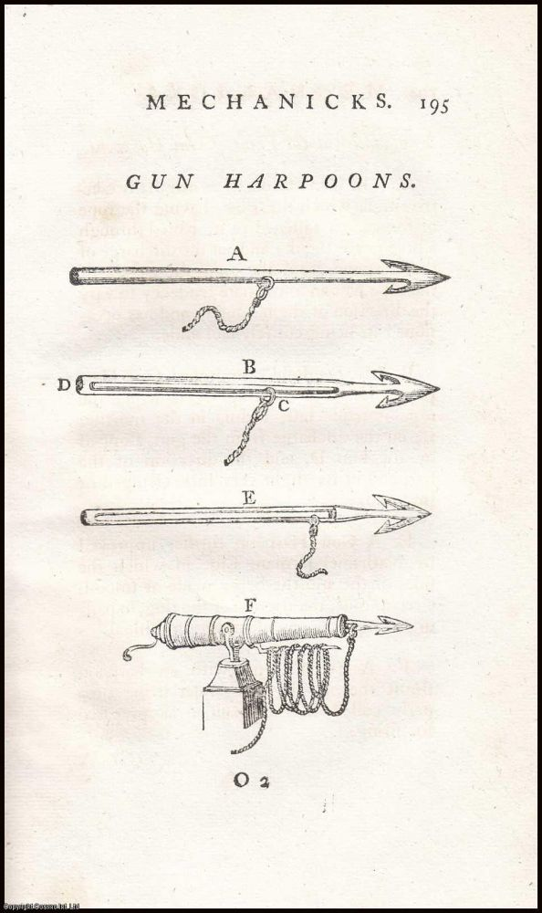Taking Whales by Use of the Gun Harpoon. A collection of 10 articles, published from 1778 to 1800, with detailed individual accounts of whales killed. With plates and woodcuts. From the Society for The Encouragement of Arts, Manufactures, and Commerce. Manufactures Society for The Encouragement of Arts, and Commerce.