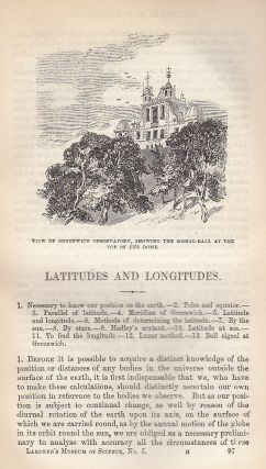 Latitudes And Longitudes. A rare original article from the Museum of Science & Art, 1854. Lardner...