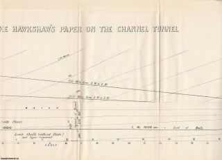 The Channel Tunnel by J. Clarke Hawkshaw TOGETHER WITH The Forth Bridge, by B. Baker. A rare original article from the British Association for the Advancement of Science report, 1882.