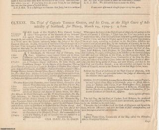EAST INDIA COMPANY REVENGE. The Trial of Captain Thomas Green, and his Crew, at the High Court of...
