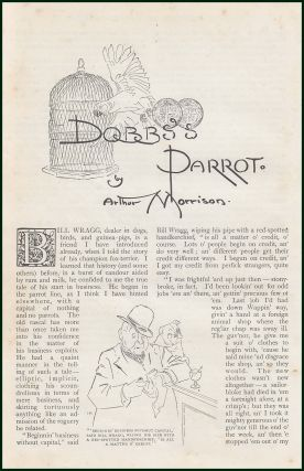 Dobb's Parrot. A rare original article from The Strand Magazine, 1907.