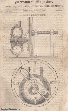 Mead's Rotary-Engine; Lord Ebrington's Bill For Reform of Weights and Measures; The Oxydrogen...