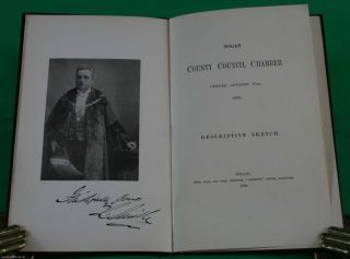 Wigan County Council Chamber opened October 30th, 1890. Descriptive Sketch.