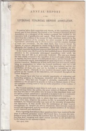 1850] Annual Report of the Liverpool Financial Reform Association