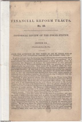 1851] Historical Review of the Fiscal System. Financial Reform Tracts No 33, 34, 35