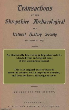 Old Shropshire Wills. This is an original article from the Shropshire Archaeological & Natural...