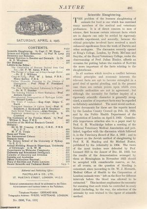 Nature, Volume 119, Number 2996. Nature, A Weekly Journal of Science. Saturday, April 2nd, 1927....