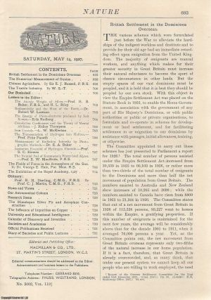 Nature, Volume 119, Number 3002. Nature, A Weekly Journal of Science. Saturday, May 14th, 1927....
