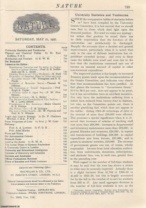 Nature, Volume 119, Number 3003. Nature, A Weekly Journal of Science. Saturday, May 21st, 1927....