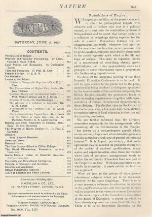 Nature, Volume 119, Number 3006. Nature, A Weekly Journal of Science. Saturday, June 11th, 1927....