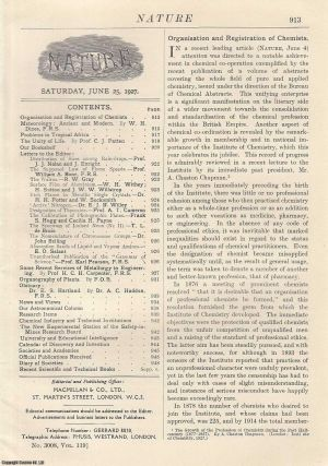 Nature, Volume 119, Number 3008. Nature, A Weekly Journal of Science. Saturday, June 25th, 1927....